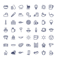 49 hot icons vector
