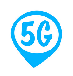 5g sticker online wireless system connection vector image