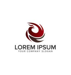 Abstract luxury bird logo design concept template vector