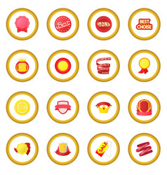 award icon circle vector image