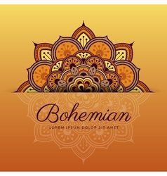 Beautiful henna mandala ornament design vector image