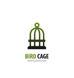 bird cage logo for business company simple bird vector image
