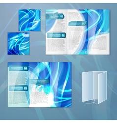 Blue brochure template vector image