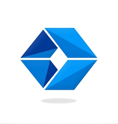 Box cube triangle logo vector