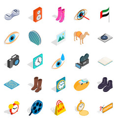 Brand of clothing icons set isometric style vector