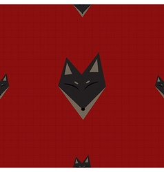 Brown Fox Red Background vector image