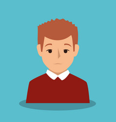 businessman character avatar icon vector image