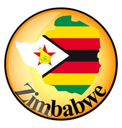 button Zimbabwe vector image vector image