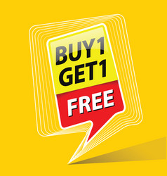 Buy one get free sale promo theme vector