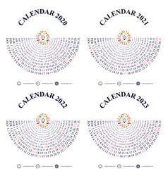 Calendar 2020 20212022 and 2023 vector
