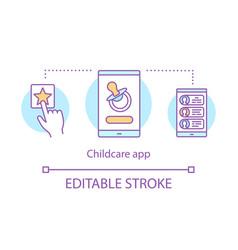 Childcare app concept icon vector