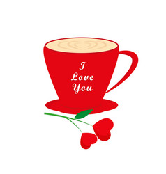 coffee cup valentines day vector image