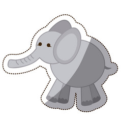 Color elephant icon stock vector
