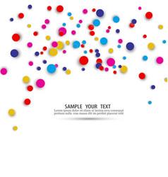 Colored round confetti on white background vector