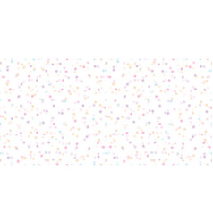 colorful fun confetti dots seamless pattern vector image