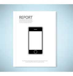 Cover report phone vector