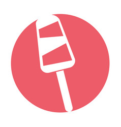 Delicious popsicle isolated icon vector