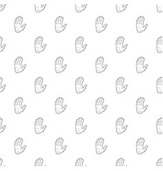 electronic glove icon outline style vector image
