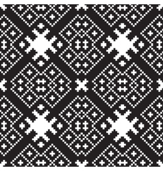 embroidery ethnic geometric seamless patterns vector image