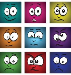 emotions coloured vector image