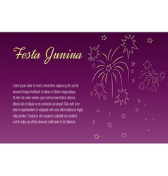 Festa Junina elements vector image