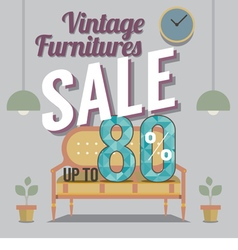 Furniture Final Sale Up to 80 Percent vector image