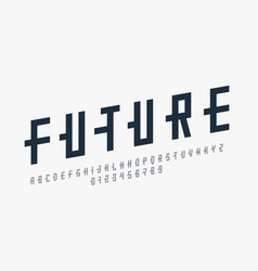 futuristic style font vector image