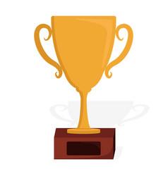 Golden trophy icon design vector