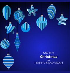 happy new year dark blue background vector image
