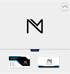 Initial m monogram logo template free your vector