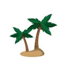 Isolated palm tree plant design vector image
