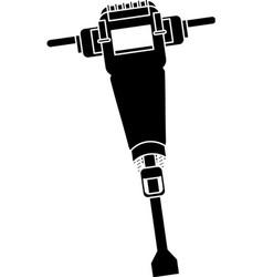 jackhammer construction tool design pictogram vector image