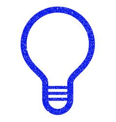 Lamp bulb grunge icon vector