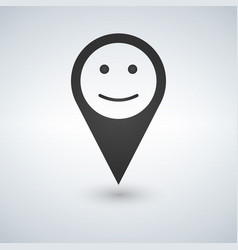Location marker with happy face vector