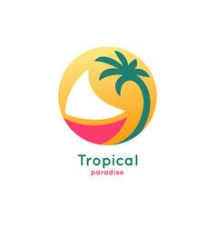 logo boat vector image