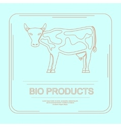 Logotype of bio products vector