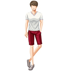 Man fashion vector image