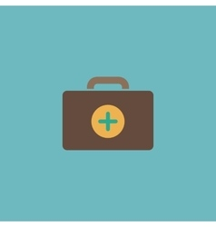 Medical box modern flat icon vector image