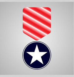 military medal veterans day vector image
