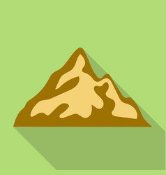 mountain with shadow icon flat style vector image