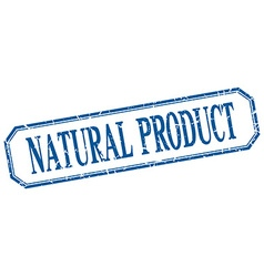 natural product square blue grunge vintage vector image