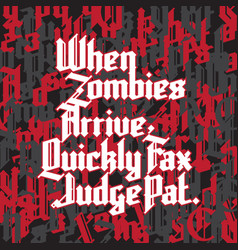 new gothic font vector image vector image
