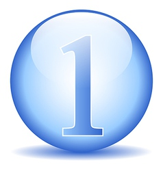 Number one button vector