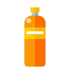 Orange Plastic Bottle vector image