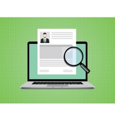 people cv on paper document with photo and vector image