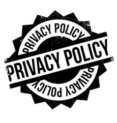 Privacy policy rubber stamp vector
