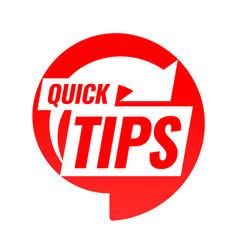 Quick tips symbol or emblem vector