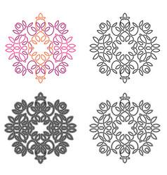 radial liear pattern or vignette set vector image