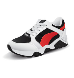 Realistic sport running shoe for training vector
