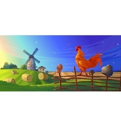 Rural summer landscape vector